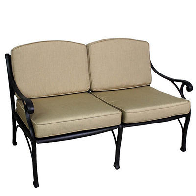 Summerville La Jolla Cushioned Patio Loveseat - Antique Bronze