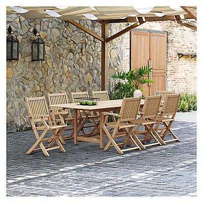 Amazonia Cesena 9-Pc. Teak Outdoor Dining Set - Natural