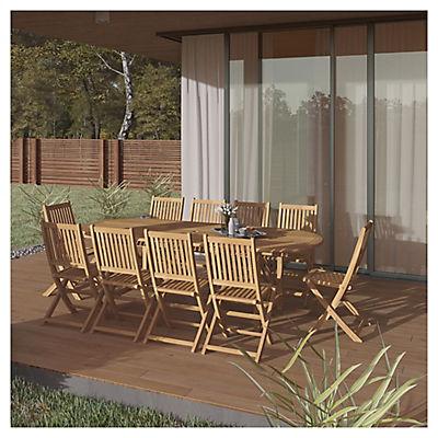 Amazonia Lorient 11-Pc. Teak Patio Dining Set - Natural