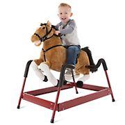 Happy Trails Plush Spring Rocking Horse - Brown