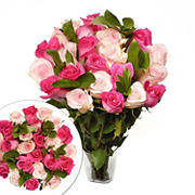 Two Dozen Pink Lady (Dark/Light) Roses Bouquet