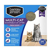 Berkley Jensen Multi-Cat Scoopable Cat Litter, 40 lbs.