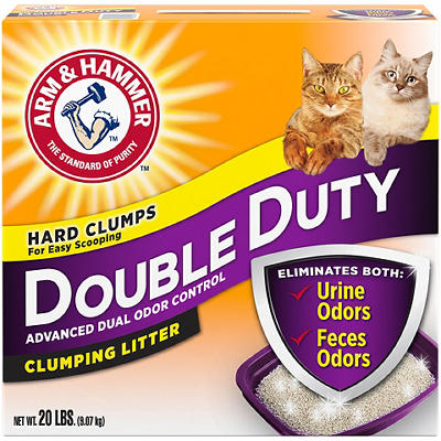 Arm & Hammer Double Duty Clumping Cat Litter, 20 lbs.