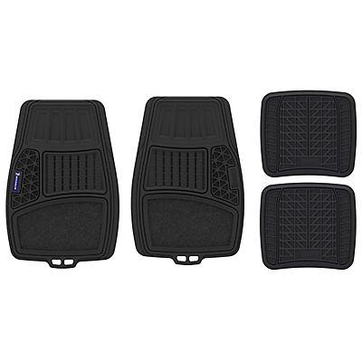 Michelin 4-Pc. Rubber Car Floor Mat Set - Black