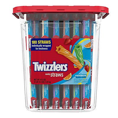 Twizzlers Rainbow Candy Straws, 180 ct.
