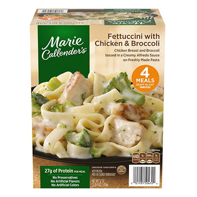 Marie Callender's Fettuccini with Chicken and Broccoli, 4 pk.