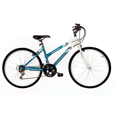 "Titan Wildcat Hardtail Women's 26"" 12-Speed Mountain Bicycle - White/T"