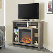 "W. Trends 44"" Highboy Corner Fireplace TV Stand"