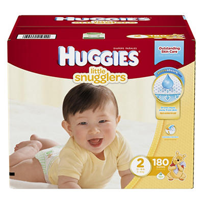 Huggies Little Snugglers Step 2 Diapers, 180 ct.