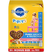 Pedigree Chicken Flavor Puppy Growth and Protection Dry Dog Food, 36 lbs.