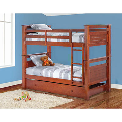 Berkley Jensen Twin Bunk Bed - Walnut
