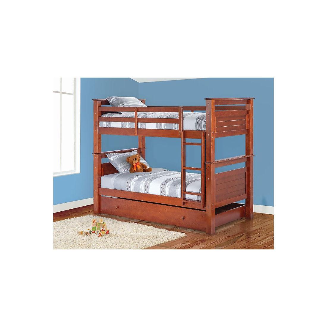 free shipping 0bde3 e1d22 Berkley Jensen Twin Bunk Bed - Walnut
