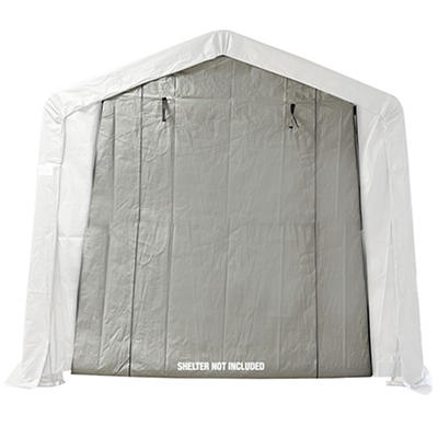 Shelter-It 10' x 8' Polyethylene Instant Garage Add-A-Door - Gray