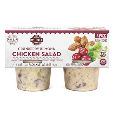 Wellsley Farms Cranberry Almond Chicken Salad, 4 ct./4 oz.