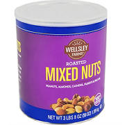Wellsley Farms Roasted Mixed Nuts, 56 oz.