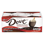 Dove Vanilla Ice Cream With Dark Chocolate Bars, 12 ct./2.89 fl. oz.