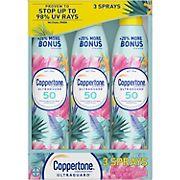 Coppertone Ultra Guard Broad-Spectrum SPF 50 Sunscreen Spray, 3 pk./6.9 oz.