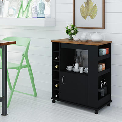 Ameriwood Home Williams Kitchen Cart - Black