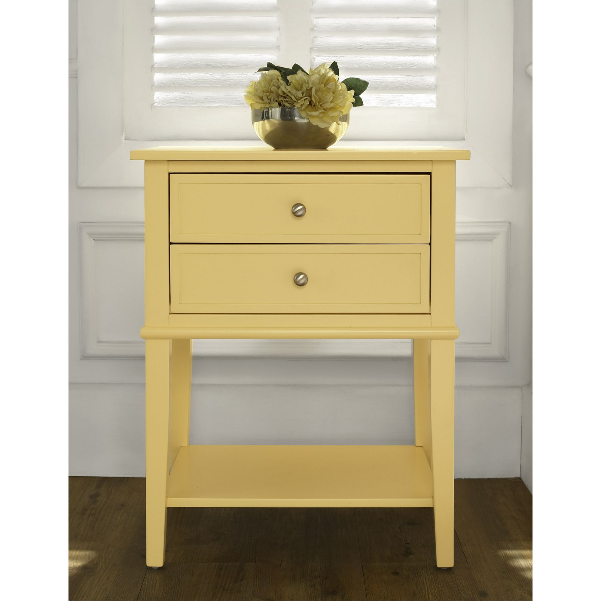 - Ameriwood Home Franklin Accent Table With 2 Drawers - Yellow - BJs