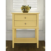 Ameriwood Home Franklin Accent Table with 2 Drawers - Yellow