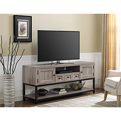"Ameriwood Home Barrett 64"" Multipurpose TV Console - Weathered Oak"