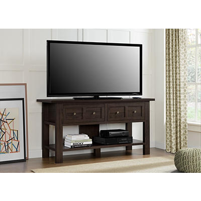 "Ameriwood Home Pillars 55"" Apothecary TV Stand - Cherry"