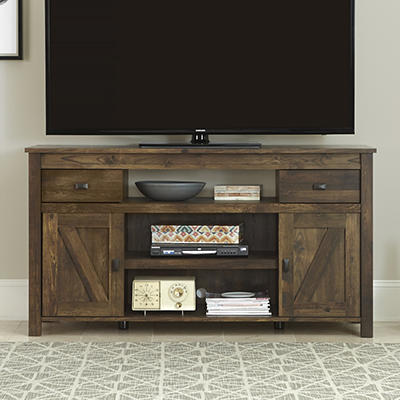 "Ameriwood Home Farmington 60"" TV Stand - Rustic Brown"