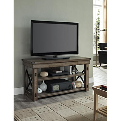 "Ameriwood Home Wildwood 50"" Wood Veneer TV Stand - Rustic Gray"