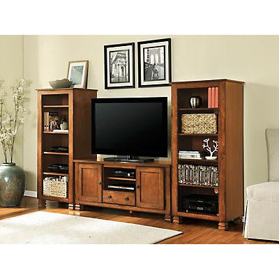"""Ameriwood Home Summit Mountain 55"""" Wood Veneer TV Stand - Brown"""