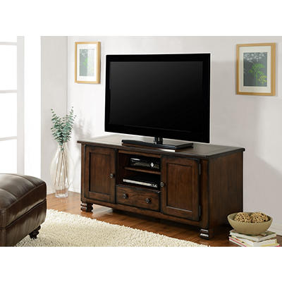 "Ameriwood Home Summit Mountain 55"" Wood Veneer TV Stand - Espresso"