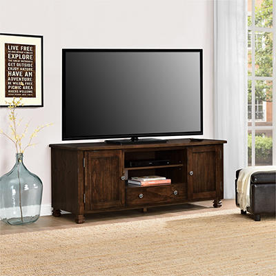 "Ameriwood Home San Antonio 60"" Wood Veneer TV Stand for TVs Up to 60"""