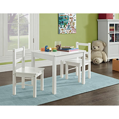 Ameriwood Home Hazel Kids' Table and Chairs Set - White