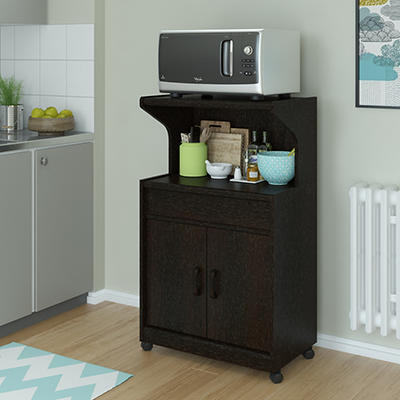 Ameriwood Home Reggie Microwave Cart - Espresso