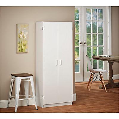 SystemBuild Flynn Storage Cabinet - White