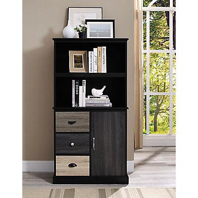 Ameriwood Home Mercer Storage Bookcase - Black/Multicolor
