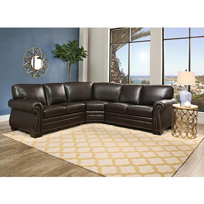 Abbyson Living Hampton Sectional - Dark Brown