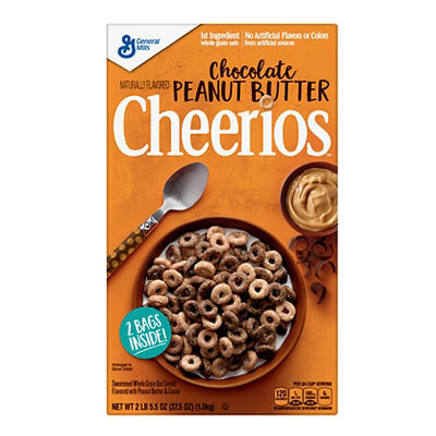 General Mills Chocolate Peanut Butter Cheerios, 2 pk./18.75 oz.