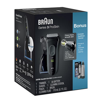 Braun Series 3 ProSkin 3070cc Electric Shaver with Clean and Charge St