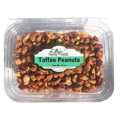 Lilly's Family Foods Toffee Peanuts, 18 oz.