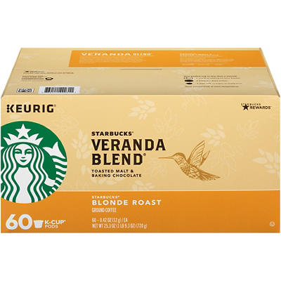 Starbucks Veranda Blend Blonde Roast K-Cup Pods, 60 ct.