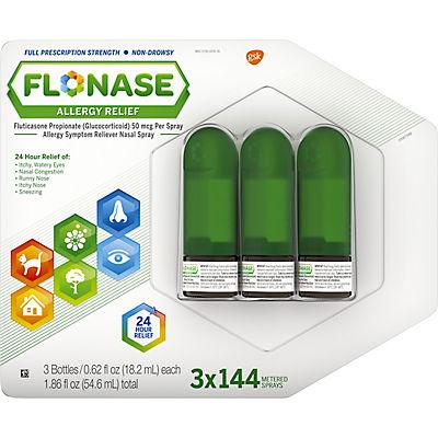Flonase Allergy Relief Nose Spray, 3 pk./0.62 fl. oz.