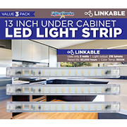 "Lights Of America 13"" LED Strip Light, 3 pk."