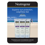 Neutrogena Ultra Sheer Dry-Touch Sunscreen Broad Spectrum SPF 55, 3 pk./3 fl. oz.
