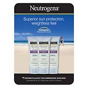 Neutrogena Ultra Sheer Dry-Touch Sunscreen Broad Spectrum SPF 55, 3 pk./3 fl. oz.