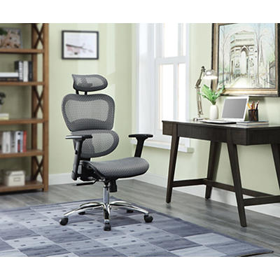 Berkley Jensen Deluxe Mesh Chair - Gray