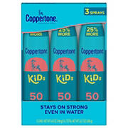 Coppertone Kids Broad Spectrum SPF 50 Sunscreen Spray, 2 pk./6.9 oz. with Tear Free SPF 50 Mineral Lotion, 6 fl. oz.