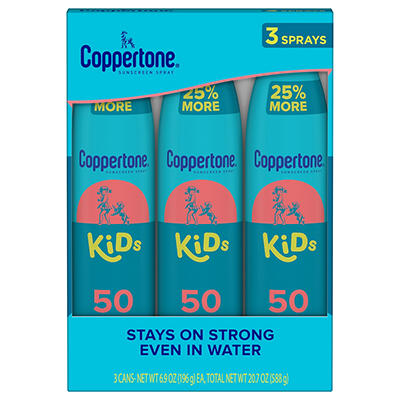 Coppertone Kids Broad Spectrum SPF 50 Sunscreen Spray, 2 pk./6.9 oz. w