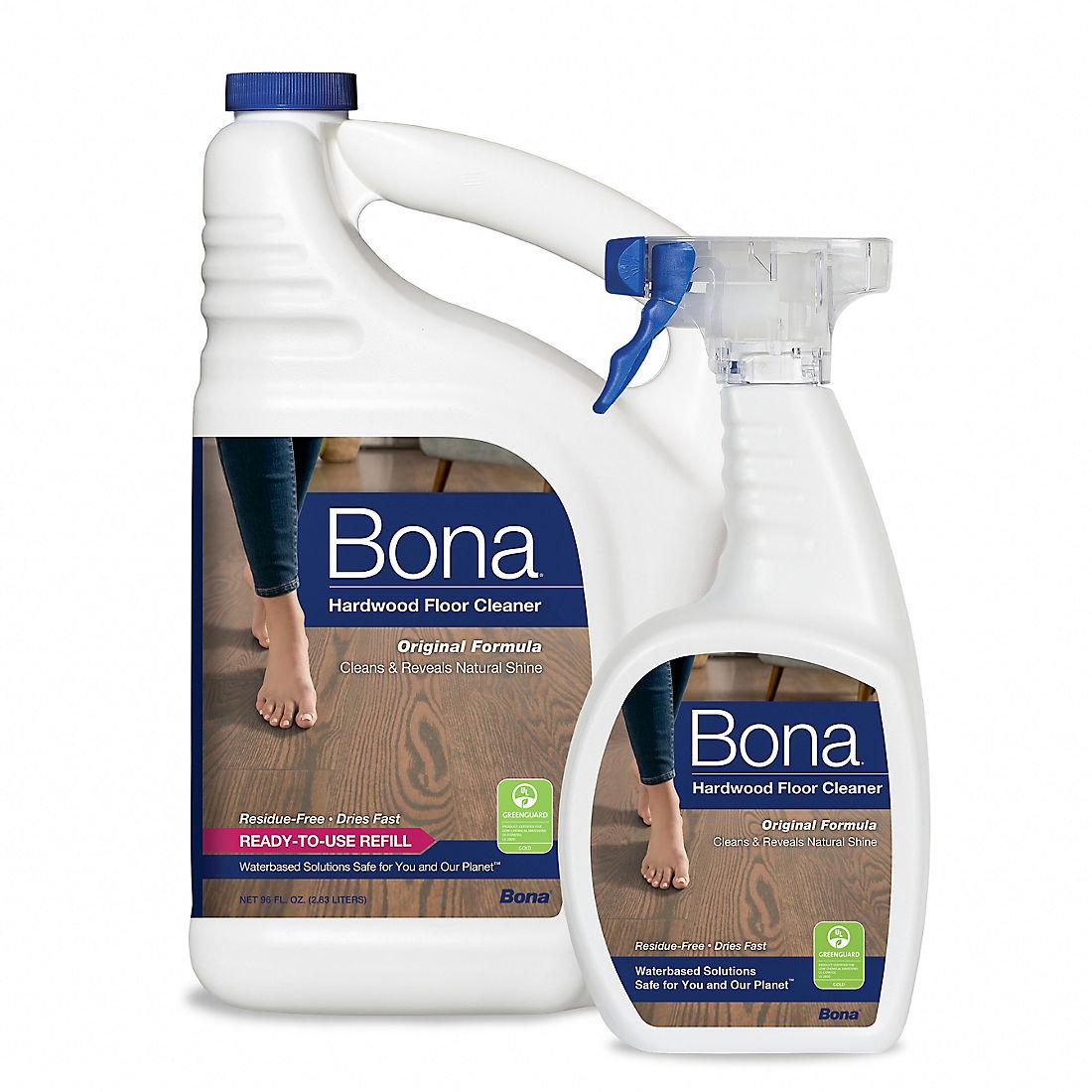 Bona Hardwood Floor Cleaner 22 Oz With 96 Oz Refill Bjs