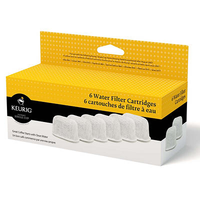 Keurig Water Filter Cartridges, 6 pk.
