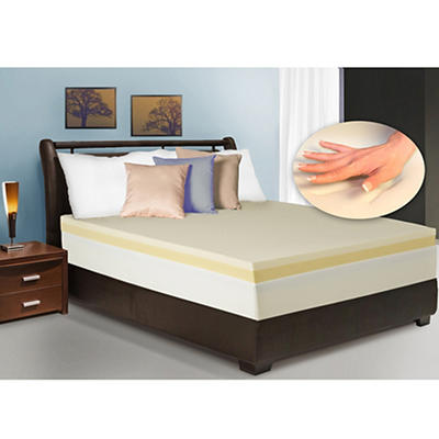 "Cradlesoft 4"" Dual Layer Memory Foam Twin Size Revitalizer Plus Mattress Topper"